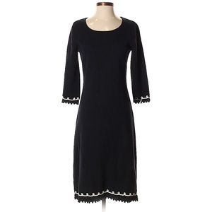 Hanna Andersson Navy Blue White Loop Sweater Dress